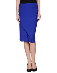 Bgn Knee Length Skirts Bright Blue