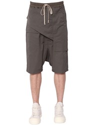 Rick Owens Drkshdw Memphis Paneled Canvas Shorts