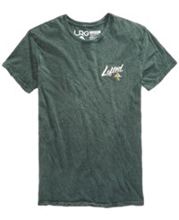 Lrg Men's Logo Print T Shirt Green Wash