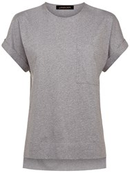 Jaeger Stepped Hem T Shirt Grey
