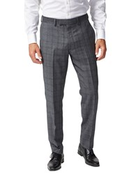 Chester Barrie By Prince Of Wales Check Suit Trousers Charcoal