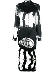 Ann Demeulemeester Abstract Print Midi Dress Green