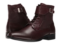 Calvin Klein Stokely Oxblood Calf Leather Men's Boots Brown