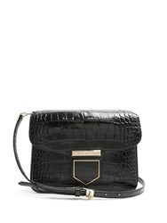 Givenchy Nobile Small Crocodile Effect Cross Body Bag Black