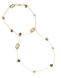 Kenneth Cole Pave Geometric Link And Shell Chip Necklace Gold
