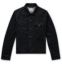 Rag And Bone Definitive Denim Trucker Jacket Black