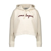 Maison Labiche Amour Toujours Cropped Hooded Sweatshirt Nineties Grey