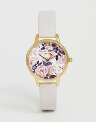 Olivia Burton Ob16lp02 Wildflower Faux Leather Watch Pink
