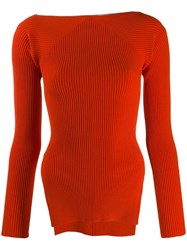 Alexander Wang Ribbed Knit Sweater Red