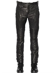 Belstaff Washed Leather Biker Pants