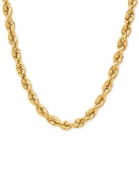 Macy's Rope Chain Necklace In 14K Gold