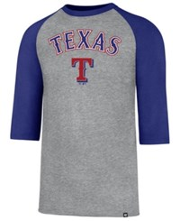 47 Brand '47 Men's Texas Rangers Pregame Raglan T Shirt Royalblue Gray