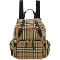 Burberry Beige Medium Icon Stripe Rucksack