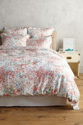 Anthropologie Peacock Alley Eloise Duvet Coral