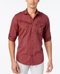 Inc International Concepts Men's Raptor Long Sleeve Shirt Only At Macy's Bright Mauve