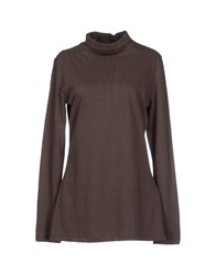 Douuod T Shirts Dark Brown