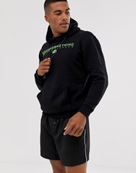 Good For Nothing Hoodie With Neon Logo In Black