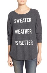Women's Signorelli 'Sweater Weather' Screenprint Dolman Sleeve Sweatshirt