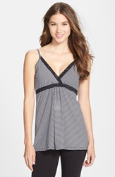 Belabumbum 'Before And After' Maternity And Nursing Cami Black Stripe