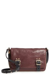 Vince Camuto Delos Leather Crossbody Bag Black Black Cherry