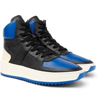Fear Of God Basketball Panelled Leather High Top Sneakers Black