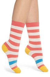 Paul Smith Fearne Stripe Crew Socks Coral