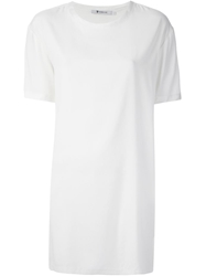 T By Alexander Wang Loose Fit T Shirt Dress White
