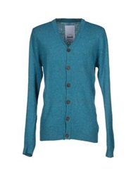 Humor Cardigans Turquoise