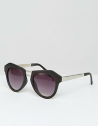 Missguided Geometric Frame Sunglasses Black