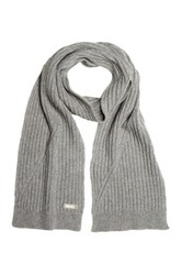 Bench Stormcloud Marl Rib Knit Scarf Gray