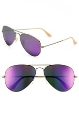 Women's Ray Ban 'Original Aviator' 58Mm Sunglasses Bronze Violet Mirror