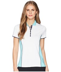 Callaway Color Blocked Short Sleeve Polo Blue Radiance Short Sleeve Pullover