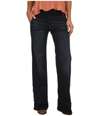 Free People High Waisted Wide Denim Bell Bewick Women's Jeans Black