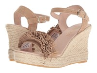 Sesto Meucci 8476 A Mazorca Suede Taupe Wedge Shoes Tan