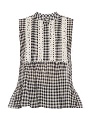 Sea Sleeveless Gingham Top Multi