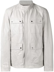 Drome Leather Field Jacket Grey