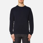 Universal Works Men's Easy Crew Neck Sweatshirt Navy Blue