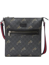 Gucci Gg Supreme Messenger With Tigers Black