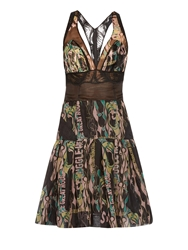 Sophie Theallet Dropped Waist Printed Silk Dress