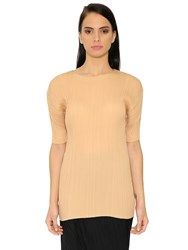 Jil Sander Puffed Sleeves Plisse Georgette Top
