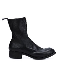 Guidi Front Zipped Boots Black