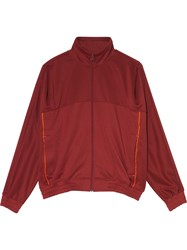 Nike X Martine Rose Maroon Zip Up Track Jacket Red
