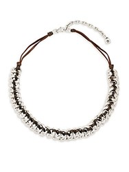 Uno De 50 Sterling Silver And Leather Seduce Me Braided Necklace