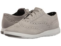 Cole Haan Grand Tour Oxford Ironstone Suede Optic White Women's Lace Up Casual Shoes Gray