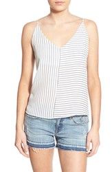 Junior Women's Bp. Stripe Woven Camisole Ivory Egret Jules Stripe