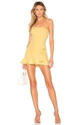 Amanda Uprichard Trisha Romper Yellow