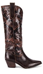Seychelles Sey Admirable Boot In Brown. Brown Leather And Python