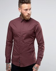 Religion Smart Shirt With Stretch Fudge Red