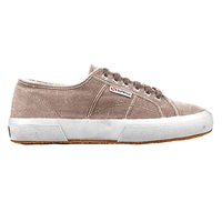 Superga 2750 Flat Lace Up Trainers Mushroom Cotton