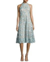 Nanette Lepore Sleeveless Floral Lace Cocktail Dress Mint Green